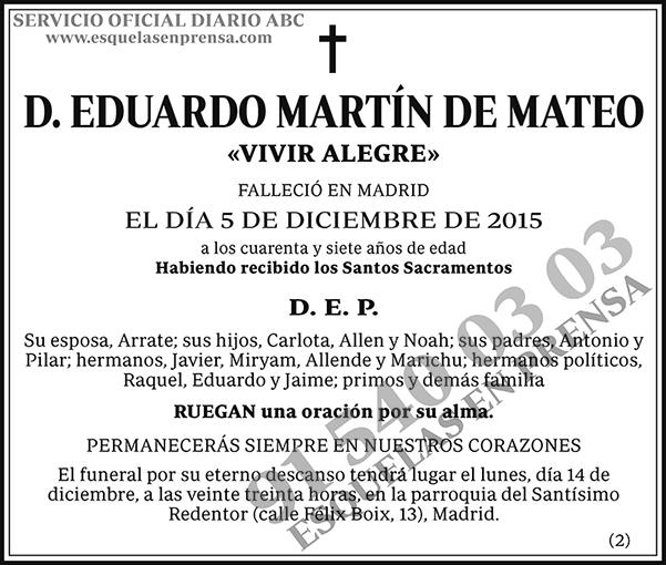 Eduardo Martín de Mateo